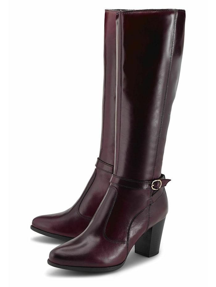 COX Klassische Stiefel Fashion-Stiefel, bordeaux