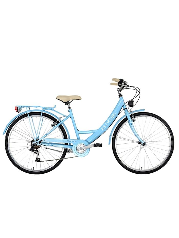 KS Cycling Damenfahrrad Cityrad 6-Gänge Toskana 26 Zoll, blau