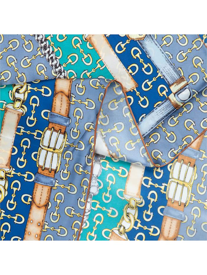 Großes Seidentuch mit elegantem Foulard-Dessin