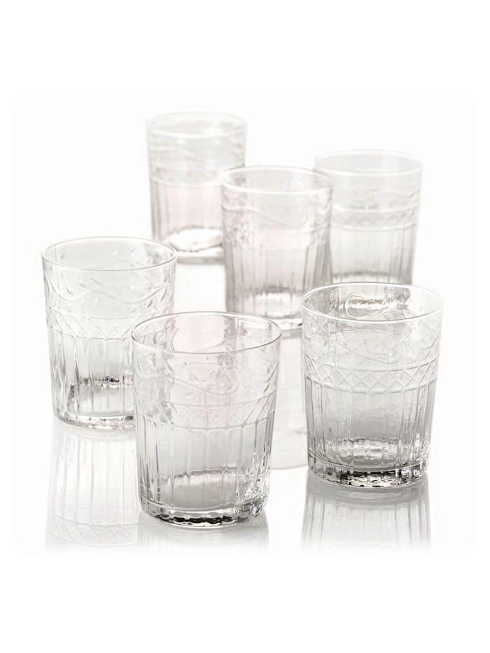 Living Wasserglas-Set, 6-tlg., Klar