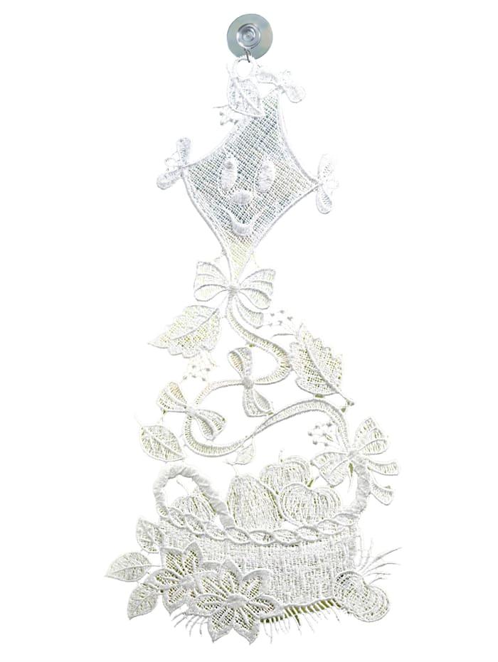 Raebel Raamdecoratie Draak, wit