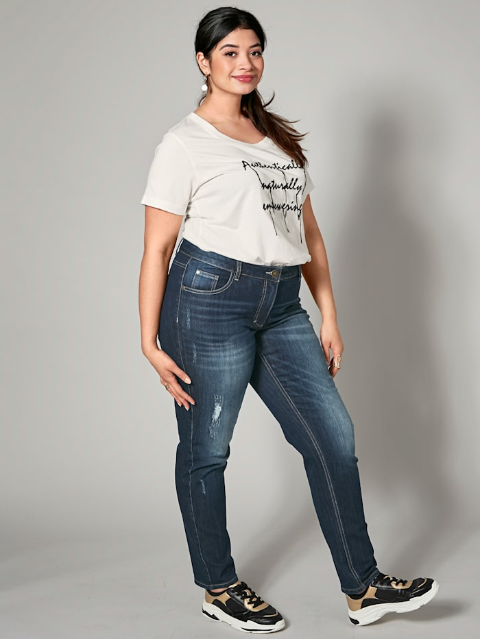 Angel of Style Jeans Carla, Donkerblauw