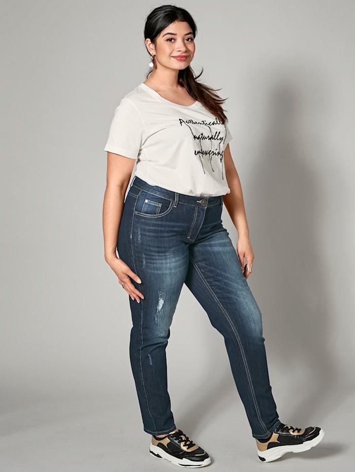 Angel of Style Jeans -Carla-, Mørkeblå