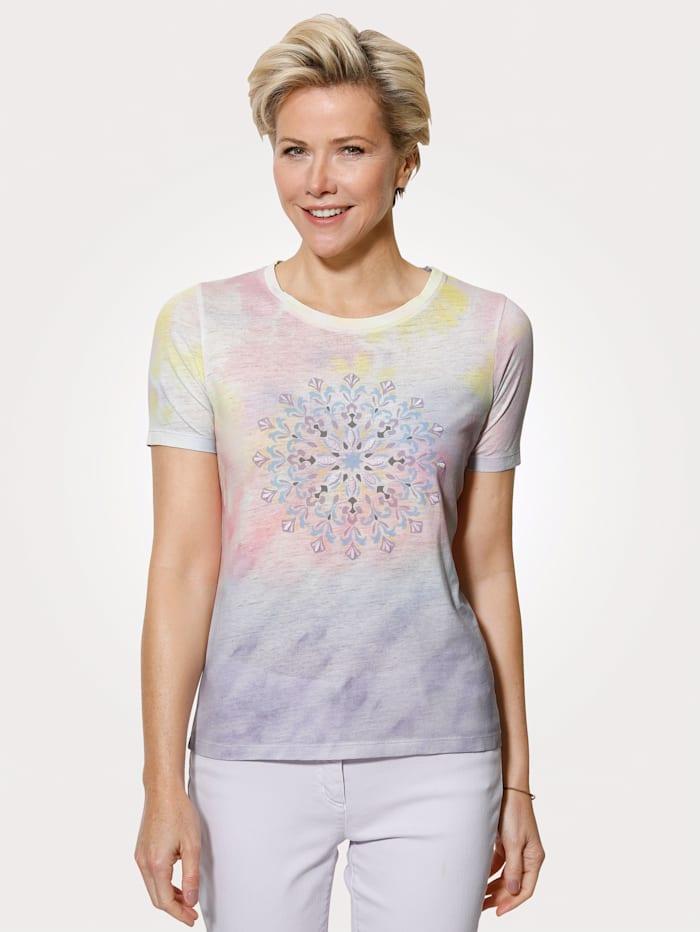 MONA Shirt in trendy batikkleuren, Multicolor
