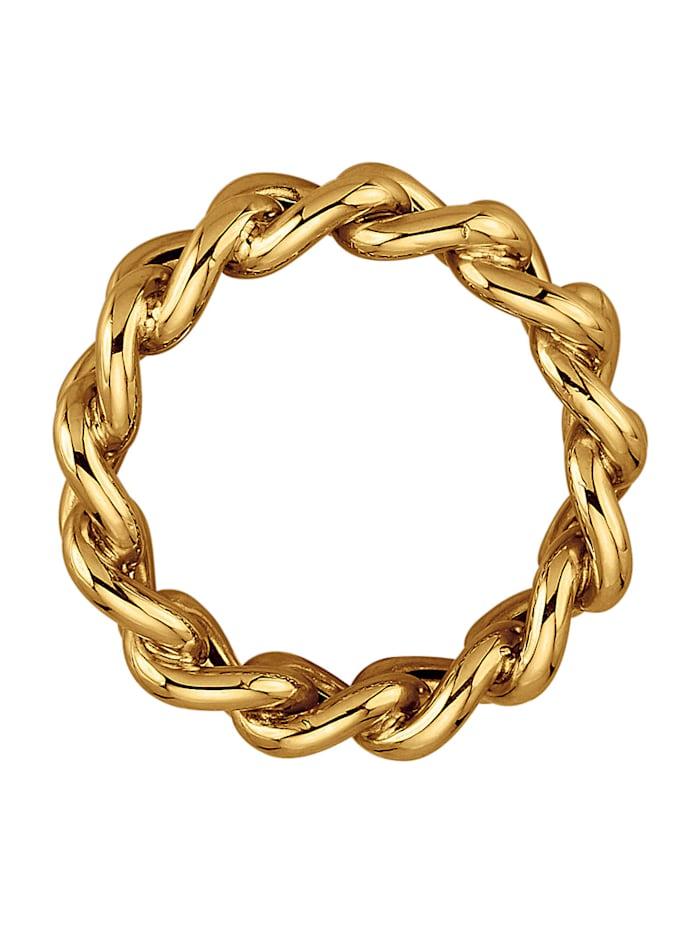 Bague chaîne En or jaune 375