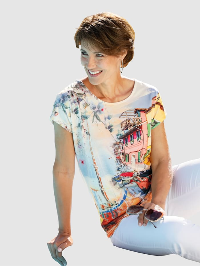 Paola Topp med trykk, Multicolor