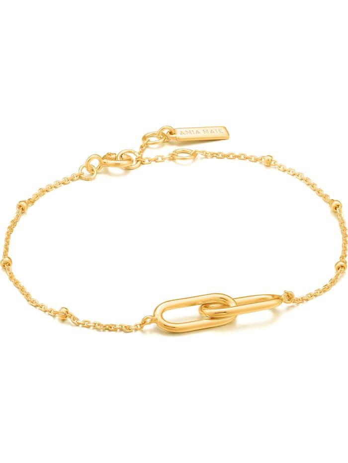 Ania Haie Ania Haie Damen-Armband Beaded Chain Link 925er Silber, gold