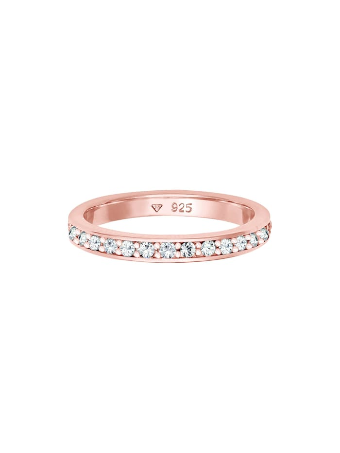 Ring Glamourös Kristalle 925 Sterling Silber