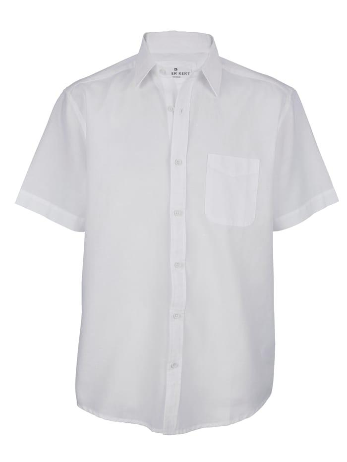 Roger Kent Hemd mit Leinenanteil, Weiß