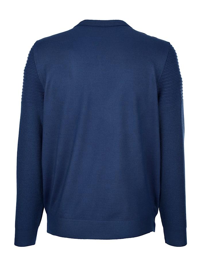 Pullover mit Rippenstrickmusterung