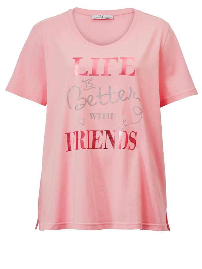 Janet & Joyce Shirt met print, Roze