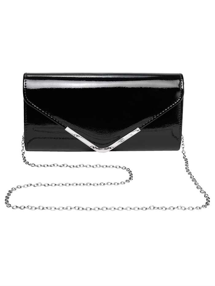 Tamaris Clutch in eleganter Form, schwarz