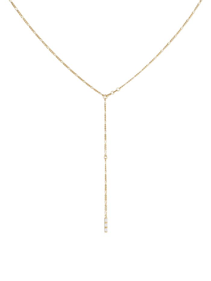 Halskette Y-Kette Figaro Topas Geo Verstellbar 925 Silber