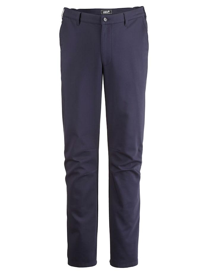 Men Plus Värmande byxor med välarbetade detaljer, Marinblå