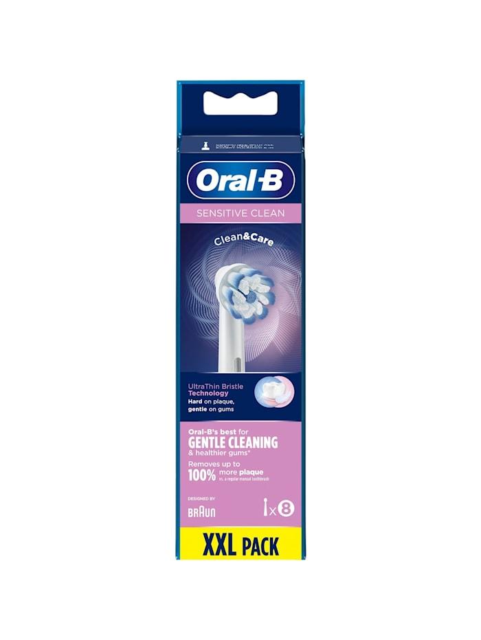 Braun Aufsteckbürste Sensitive Clean 8er, Weiß