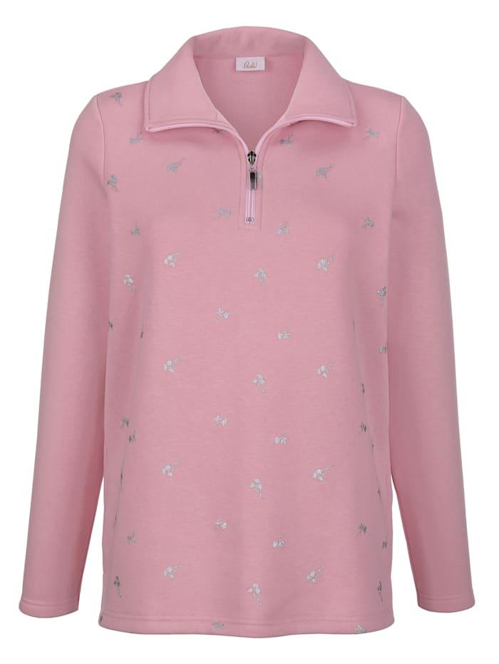 Sweatshirt mit Glitzerdruck im Vorderteil