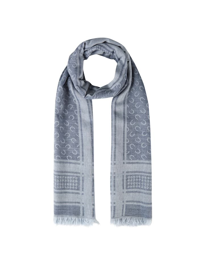 Codello Logo-Schal aus Baumwolle und Wolle, navy blue