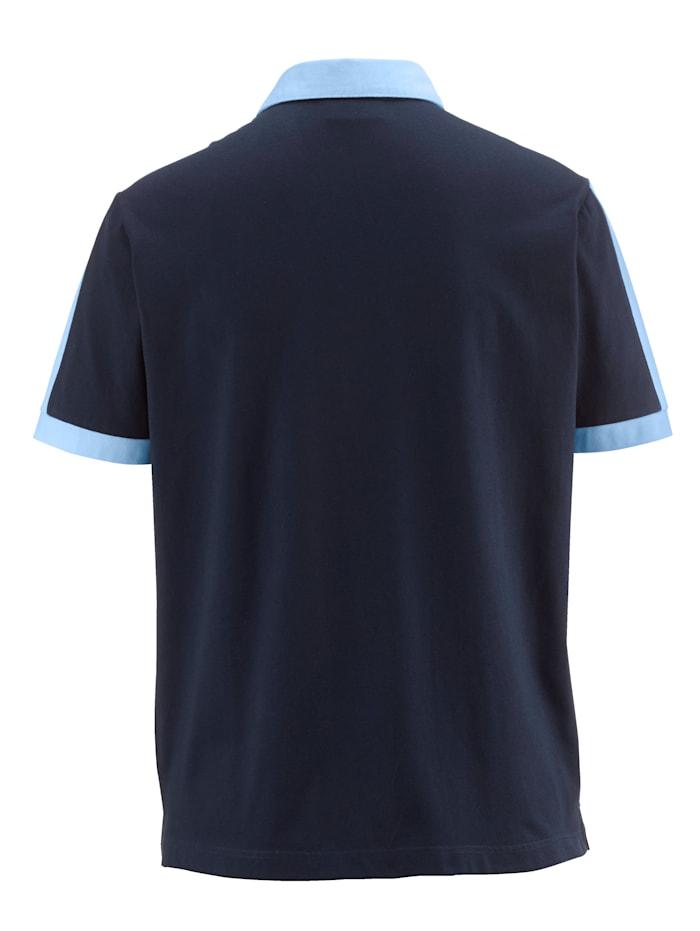 Poloshirt mit Kontrastverarbeitung