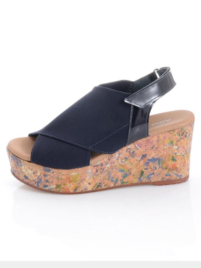 Sandales à motif brillant sur le talon