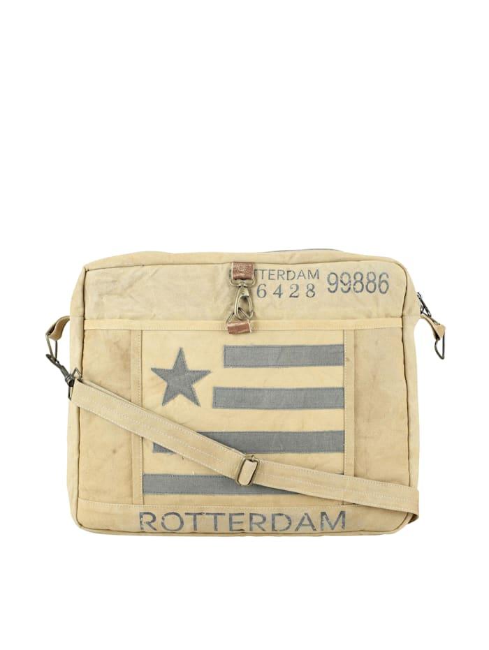 XXL Umhängetasche Rotterdam mit aufgenähter Flagge
