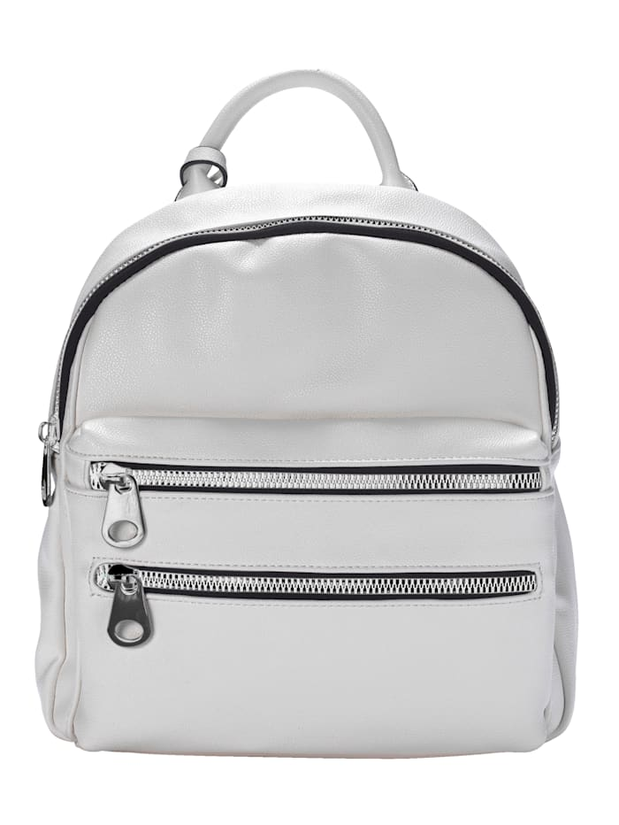 Remonte Backpack with striped straps, White