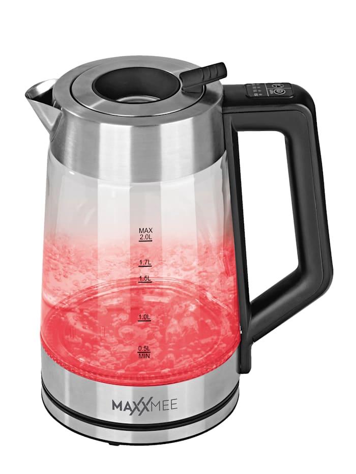 Glazen led-waterkoker, met kleurenwissel, automatische vulopening, 2 liter