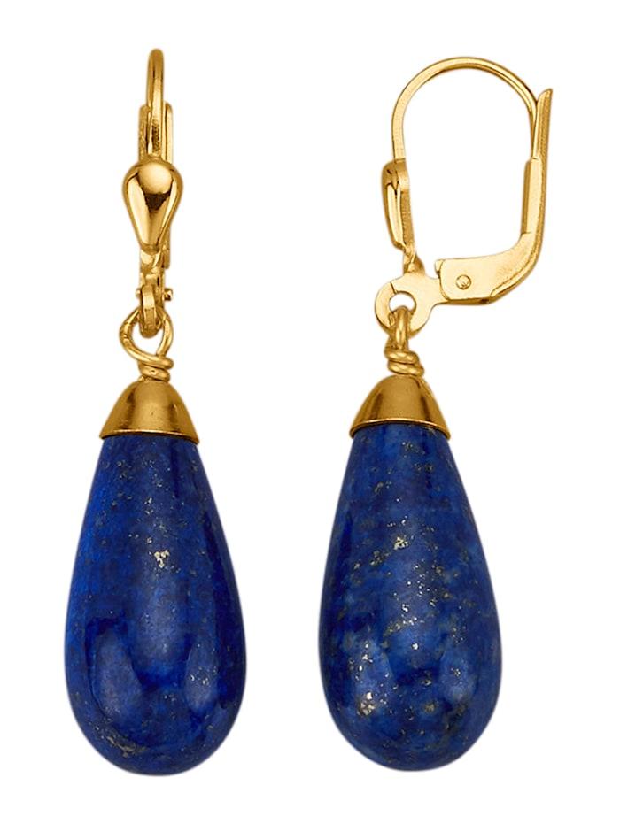 Amara Pierres colorées Boucles d'oreilles avec lapis-lazuli, Bleu