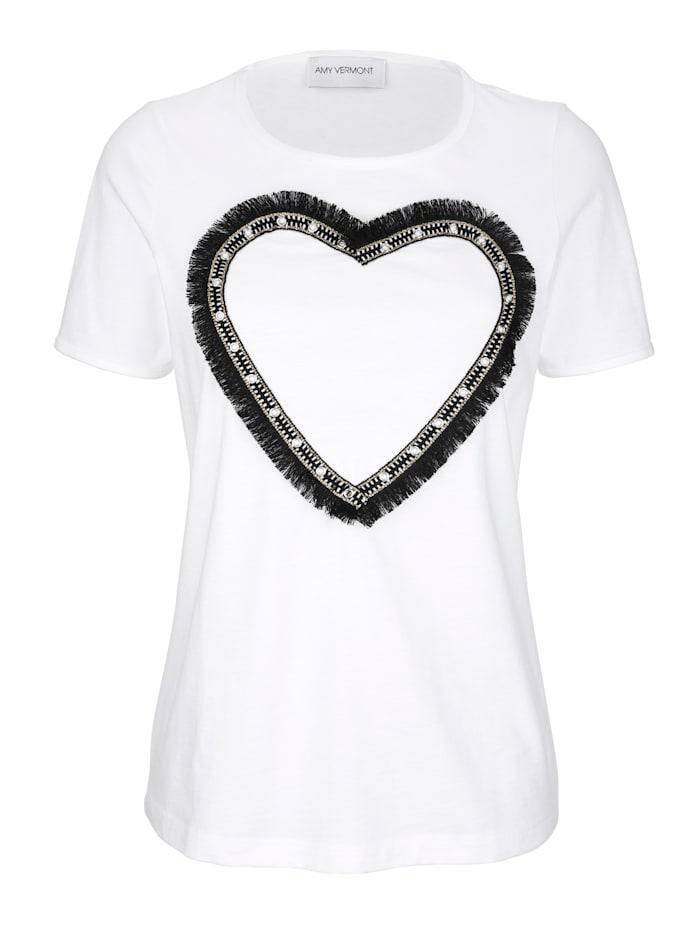 Shirt mit Herz-Applikation im Vorderteil