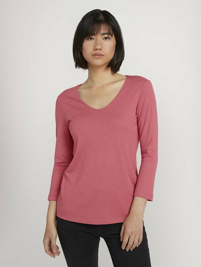 Basic 3/4 Arm Shirt mit TENCEL(TM) Modal