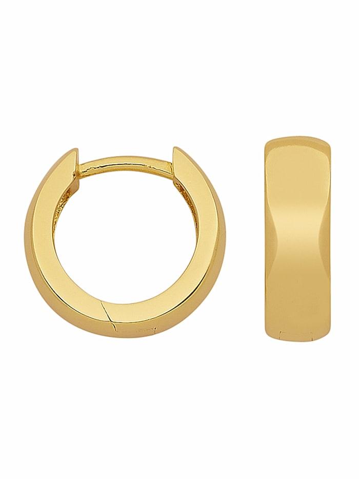 1001 Diamonds 1001 Diamonds Damen Silberschmuck 925 Silber Ohrringe / Creolen Ø 12,5 mm, vergoldet