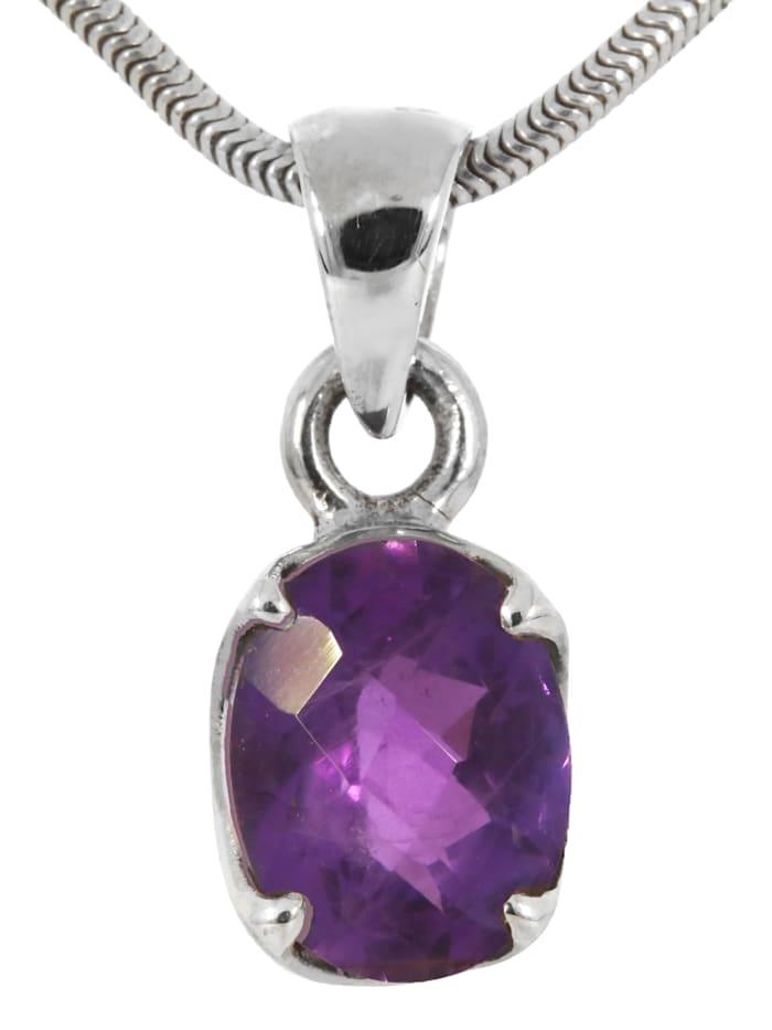 1001 Diamonds Amethyst Anhänger 925 Silber, violett