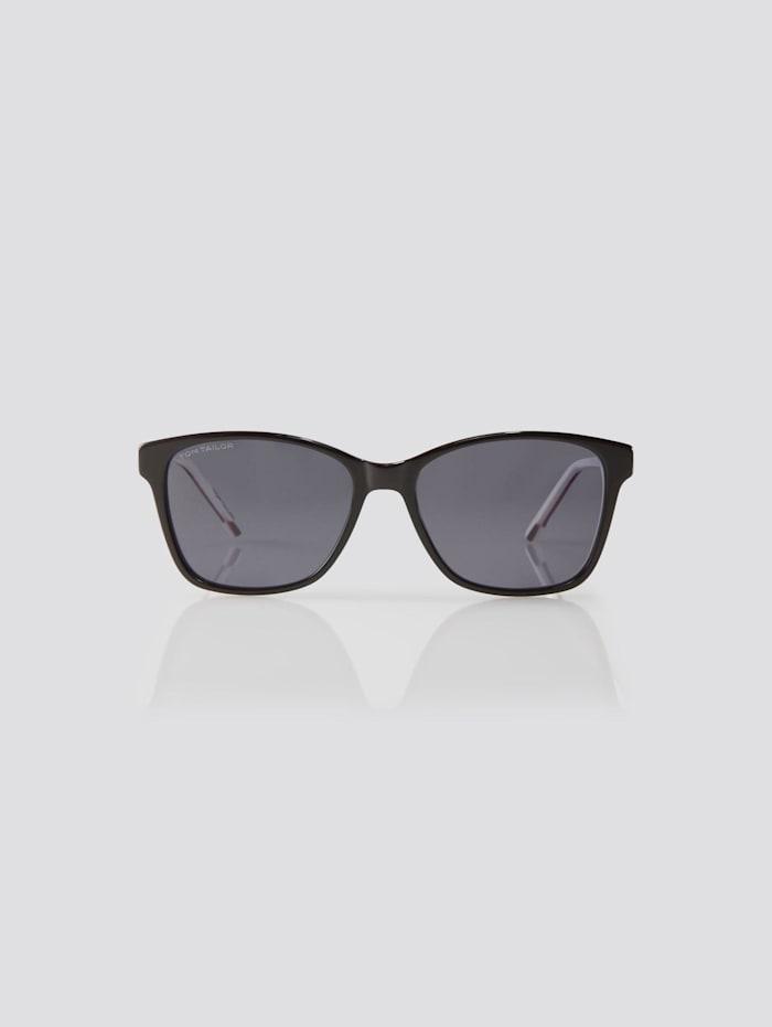 Tom Tailor Wayfarer Unisex-Kindersonnenbrille, black-pink-white