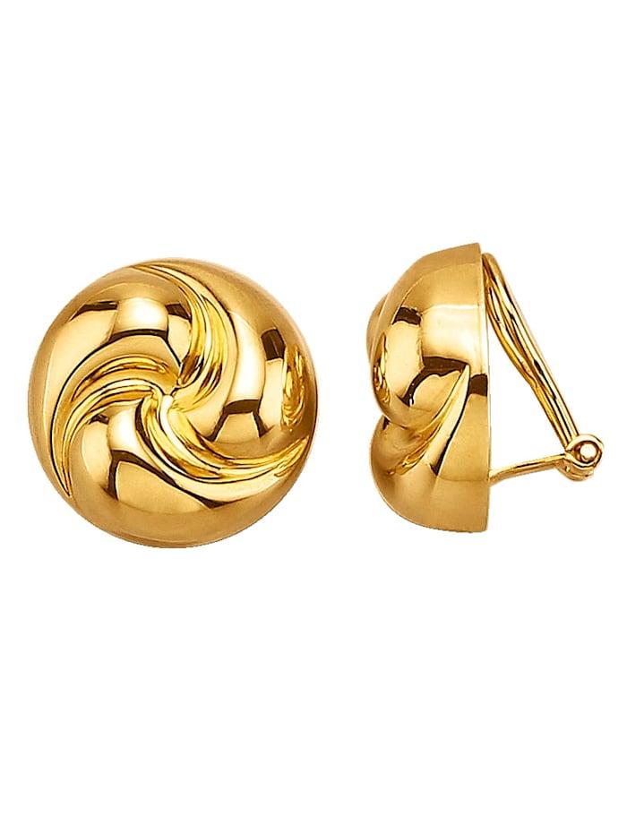 Golden Style Oorclips verguld, Geelgoudkleur