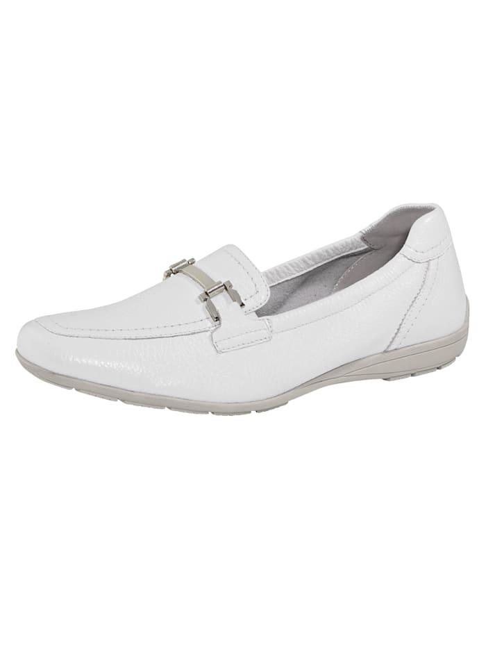 Caprice Loafers i supermjukt skinn, Vit