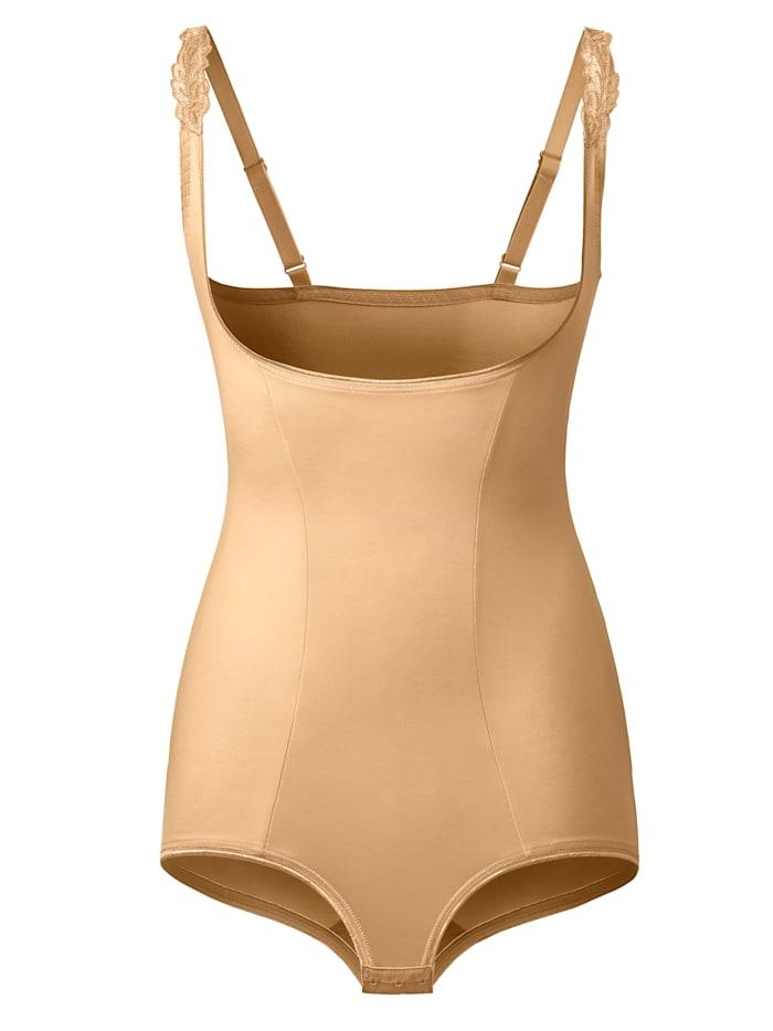 Harmony Shapewear Body im Vorderteil doppellagig gearbeitet, Nude