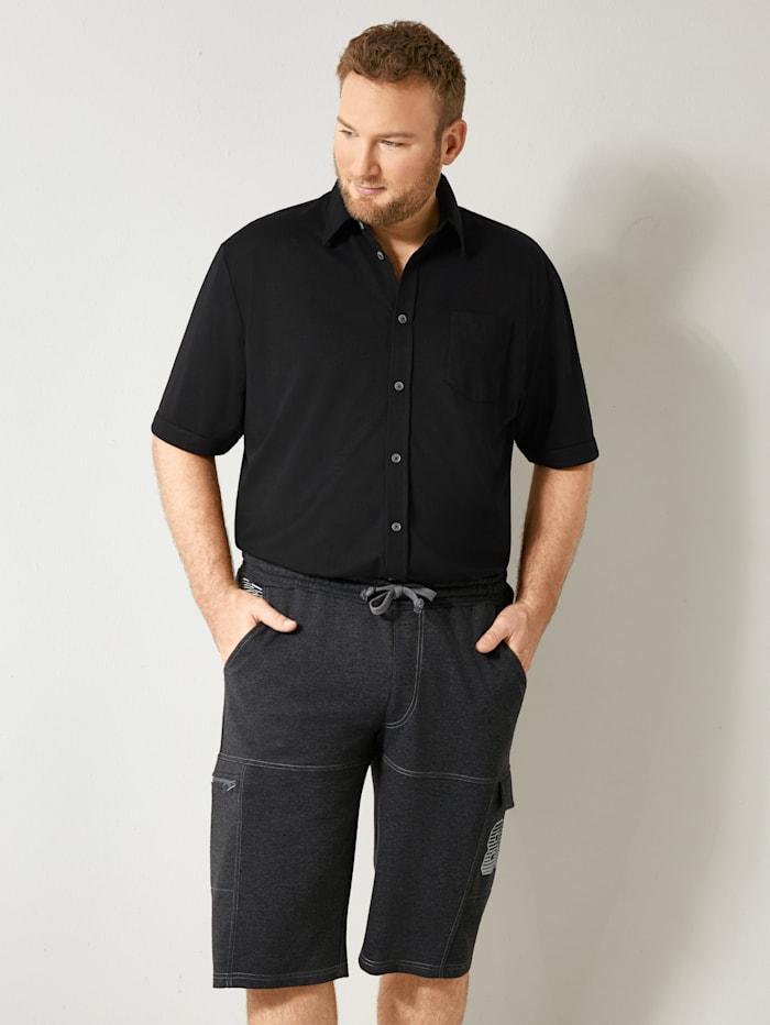 Men Plus Spezialschnitt Hemd schnelltrocknend, Schwarz
