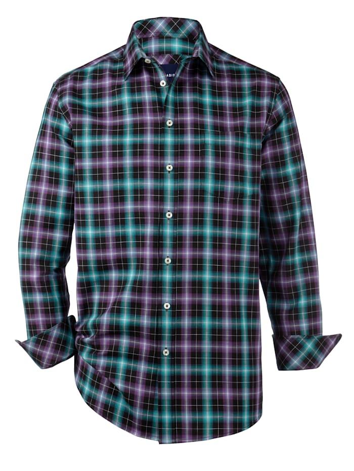 Babista Premium Overhemd met kasjmier, Petrol/Paars