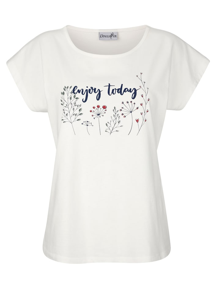 Shirt mit modernem Druck