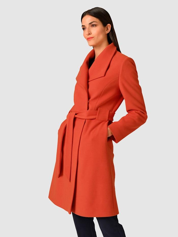 Alba Moda Manteau de coupe très féminine, Orange