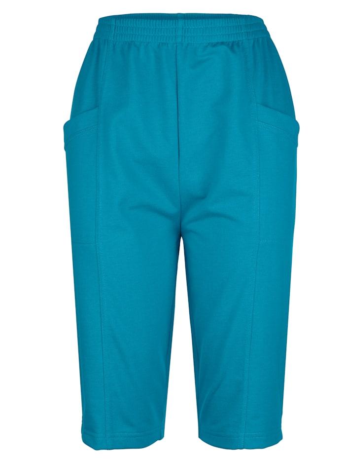 Paola Mjuka shorts med midjeresår, Blå