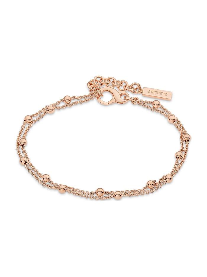 Jette JETTE Silver Damen-Armband Lucky Charm 925er Silber, gold