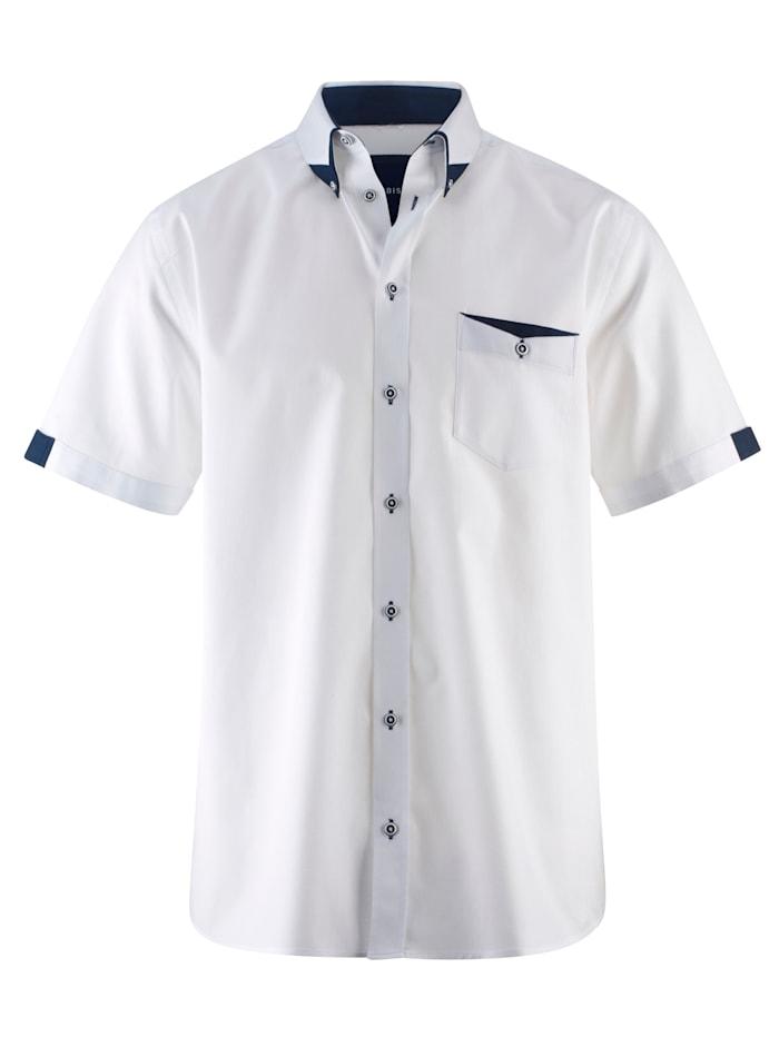 BABISTA Košile s jemnou strukturou, Bílá