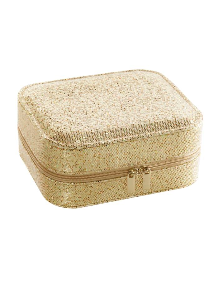 Boîte à bijoux, Coloris or jaune