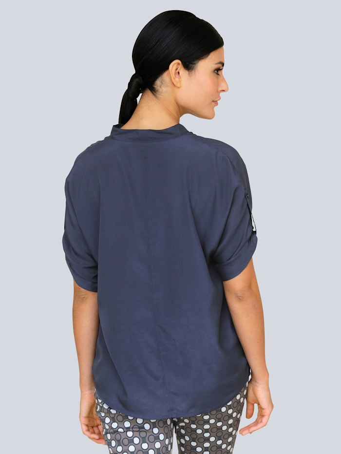 Bluse in leichter Oversized-Form