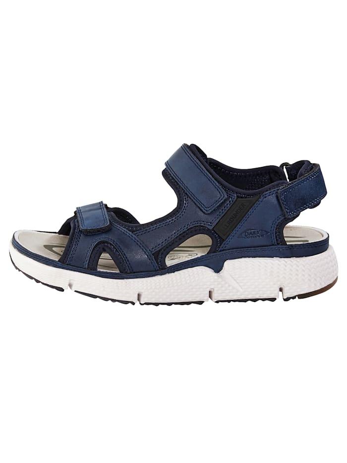 Sandalette mit hochabriebfester Kautschuk-Laufsohle