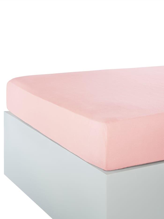 Webschatz Microfaser-Flausch Spannbettlaken, Rosé