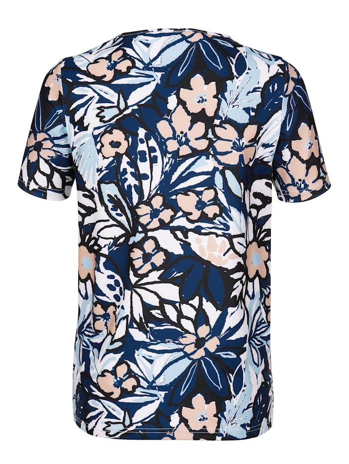 T-shirt fonctionnel à imprimé fleuri devant et dos