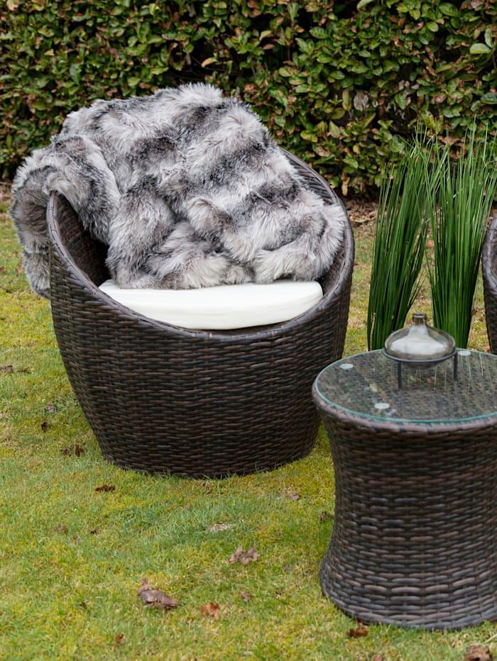Outdoor Garten-Lounge-Set, 3-tlg.