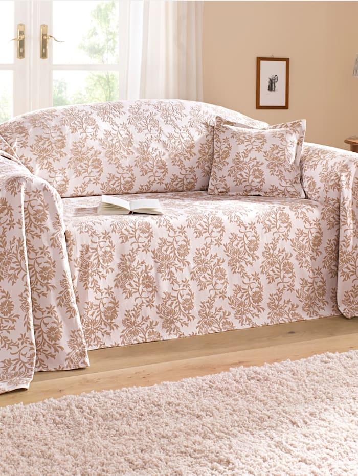 Webschatz Sofaüberwurf, beige