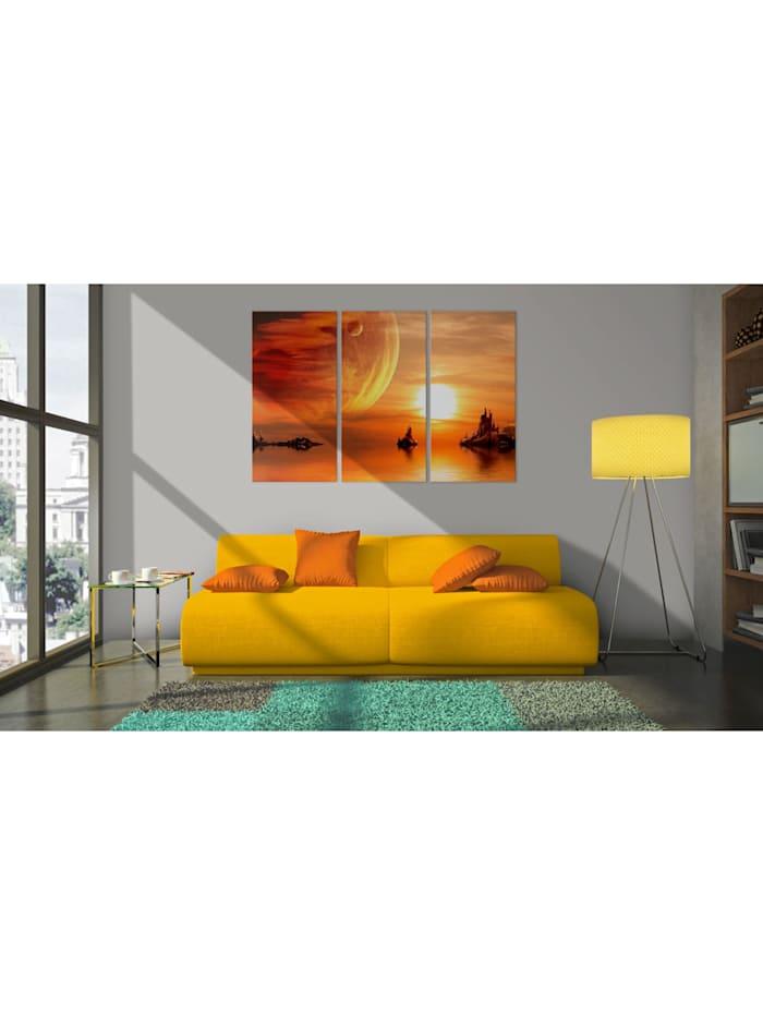 Wandbild Utopischer Sonnenuntergang